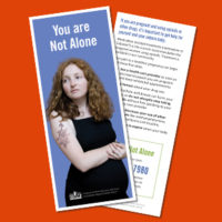 You Are Not Alone Rack Cards