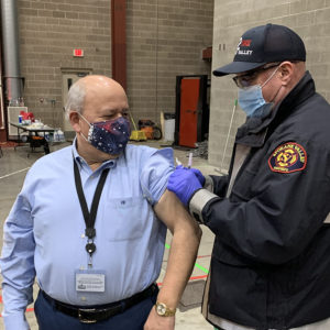 A Look Inside the EMS Drive-through Vaccination Clinic